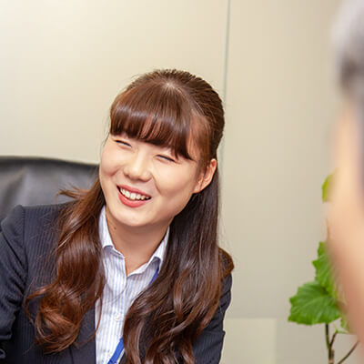 新卒採用、営業職社員のインタビュー3